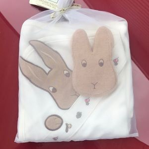 Beatrix Potter towel and sponge set new with tags